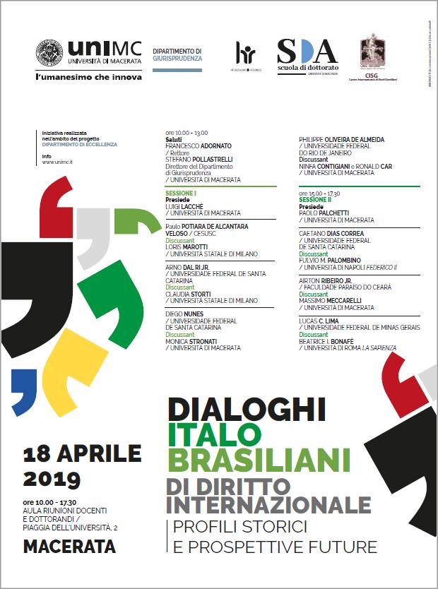 DIALOGHI ITALO BRASILIANI DI DIRITTO INTERNAZIONALE